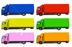 rainbow trucks